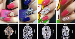 petali di fiori viola per matrimoni Sconti New Fashion DIY Bridal Unghia Paster Lega di Diamante Unghie Paster Durable Cut-outs Nail Accessori Oro O Argento (20 Pz / lotto)