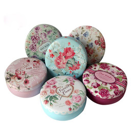 Wholesale Tea Tins Wholesaler - 10.8*4.3cm Flowers Tea Caddy Storage Box Wedding Favor Tin Box Cable Organizer Container Household Organization