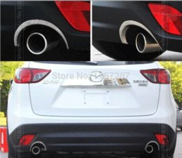 Wholesale Exhaust Pipe Decoration - Hot sale 2 pcs lot Chromium Styling ABS material The exhaust pipe decorations modified for Mazda CX 5 cx-5 car styling