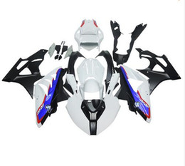 Wholesale Motorcycle Fairings Body Kits - Racing abs fairings for BMW S1000RR 11 12 13 14 1000RR 2011- 2014 injection motorcycle plastic fairing kit body white blue Quantity