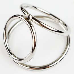 Wholesale Men Delay Sex - Men Sex Delay Toy Triple Cock and Ball Ring Stainless Steel Smooth Beautiful Cock And Ball Ejaculation Delayer Rings