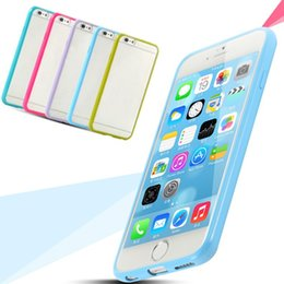 Wholesale Dual Slim Mobile Phone - 10 colors Dual Layer Ultra Thin Slim Hybrid PC+TPU Case Vintage Mobile Phone Tough Back Cover For iPhone 6 6Plus 6S 6S Plus