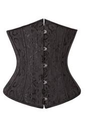Wholesale Black Jacquard Corset - Plus Size Fashion Lady's Waist Cincher Gothic Jacquard Underbust Corset XS-6XL