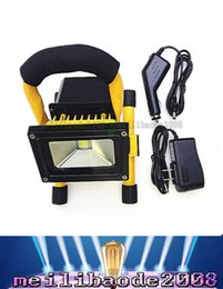 Wholesale Led Floodlight Car - 10W LED Cool White Portable Floodlight Waterproof Lamp+Car Charger Rechargeable LLWA007