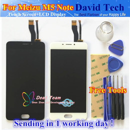 Wholesale Note Lcd Glass - Wholesale- High Quality New LCD Display +Digitizer Touch Screen Glass Replacement Parts For Meizu M5 Note Cellphone 5.5inch Free Shipping