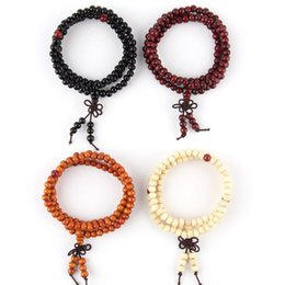 Wholesale Tibetan Bracelet Sale - 2016 Hot sales 108*6mm Buddhist Tibetan Decor Prayer beads Bracelet Bangle Wrist Ornament Wood Buddha Beads Religion Charm