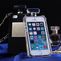 Wholesale Soft S4 Clear Covers - Perfume Bottle Clear TPU Case Soft Cover for iPhone 5 5s 4s 6 Plus 4.7'' 5.5'' for Samsung Galaxy S4 S5 Note 3 4 Handbag style