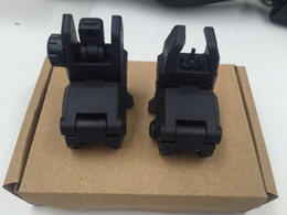 Wholesale Back Up Sights - Back-up Sight Gen 1 Front And Rear Folding Sights For Airsoft BK (without LOGO)