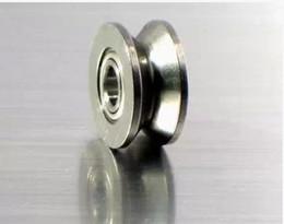 Wholesale Ball Roller Bearing - 100pcs lot V624ZZ V groove sealed ball bearing 4x13x6 mm pulley roller wheel bearings 624VV 4*13*6