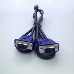 Wholesale Connect Computers - High Quality Original Computer Cables VGA 3 + 5 cable video display cable VGA cable computer connect TV 1.4m 1.8m