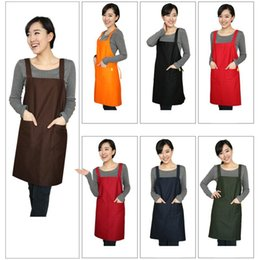 Wholesale Canvas Kitchen Aprons - 2016 NEW HOT 7 Colors Fashionable Polyester CRAFT   COMMERCIAL RESTAURANT KITCHEN APRON Factory Directly Sales Wholesale