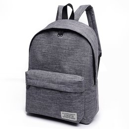 Wholesale Small Canvas Backpacks For Men - New Women Backpack Man Popular Solid Color Backpack For Woman School Bag College Wind Small Fresh Fashion Men Backpack