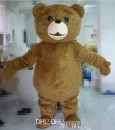 Wholesale Teddy Bear Mascot Costumes - Factory direct sale Free shipping light and easy to wear adult brown plush teddy bear mascot costume for adult to wear