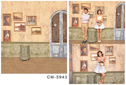 Wholesale Digital Photo Wall - Customsize 150cmX220cm Vintage Wall Background Painting For Wedding Photography Studio Photo Backdrops Vinyl Digital Backdrop Cloth