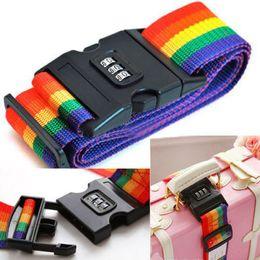 Brand New Registrabile 2M 80 pollici Password Bagaglio da viaggio Valigia Codice di sicurezza Lock Backpack Baggage Belt Strap da cappelli del pc fornitori