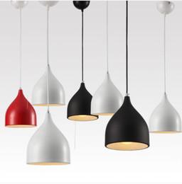 Wholesale Restaurant Hanging Lighting - Modern Lighting Lamps E27 Pendant Lights Caravaggio Design Aluminum Lamp Restaurant Bar Dining Room LED Hanging Light Fixture