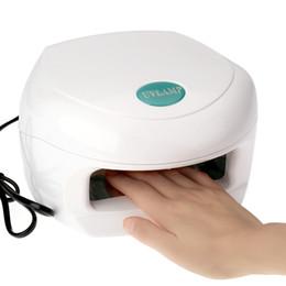 Wholesale Gel Nail Uv Lamp 18w - 14W White Nail Dryer UV Lamp 220-240V Best Curing Lamp Nail care Machine Gel Curing Nail Art with UV Bulb for UV Gel EU plug