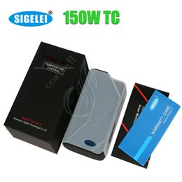 Wholesale Mini Watt - Authentic Sigelei 150W TC Box Mod Temperature Control updated Chip Asmodus 150 watt VW varialbe wattage vs Sigelei mini 150w Snow Wolf 200w