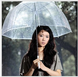 "Wholesale Clear Plastic Umbrellas Wholesale - 34"" Big Clear Cute Bubble Deep Dome Umbrella Gossip Girl Wind Resistance"