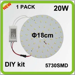 Wholesale Surface Mount Bright White Led - TOP quality DIY EXTRA bright 5730SMD 2300lm 20W round LED ceiling light source disc led techo led circular tube = 50w 2D tube