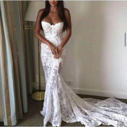 Wholesale Silver Wedding Grown - Vintage Court Style Long Mermaid Lace Bridal Grown Wedding Dresses Simple Cheap Lace Applique Formal Party Grown