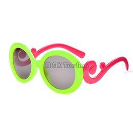 Wholesale Kids Round Eyeglasses - Fashion Cloud Style Kids Sunglasses Baroque Design Girl Sun Eyeglasses Children Size UV400 Plastic Frame 20pcs