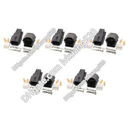 Canada 5 ensembles 2 broches femelle et mâle PA66 auto étanches noirs connecteurs de logement de boîtier électronique DJ7021K-0.6-11 / 21 Offre