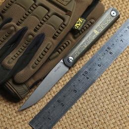 Wholesale Retro Knives - CH outdoors Gear ZIEBR folding Ball bearing Flipper knife ZDP189 steel Blade retro copper titanium handle camping pocket knives EDC tools