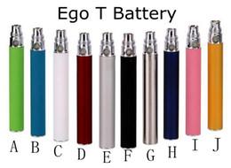 meilleur ego t Promotion Le meilleur Batterie EGO pour la cigarette électronique E-cig Ego-T 510 Fil match CE4 atomiseur CE5 clearomizer CE6 650mah 900mah 1100mah 11 couleurs