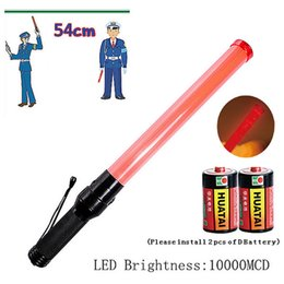 Wholesale Diving Flashing Lights - High Quality 540mm Outdoor Safety Baton LED Traffic Safety Signal Warning Flashing Control Wand Baton Hand Held Night Light