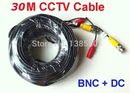 Wholesale Dvr Video Bnc Cables - Free Shipping NEW 100ft Feet 25m 30m Meter 2-in-1 BNC Video Power Cable for CCTV DVR Camera