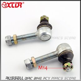 Wholesale Rod End Joint - Wholesale- Upper Arm Tie Rod End 14mm & 16mm For Hummer JIANSHE LONGDING 125 150 200 250 ATV UTV Accessories Turn joint ball Spare Parts