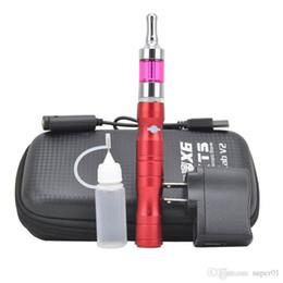 Wholesale E Cigs V2 - X6 kit 1300mAh X6 V2 Starter kit e cigs electronic cigarettes variable voltage 3.6V 3.8V 4.2V