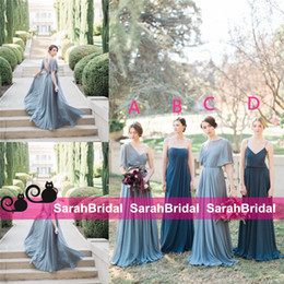 Wholesale Maxi Dresses For Bridesmaids - 2016 Jenny Yoo Bridesmaid Dresses Garden Long Maid of Honor Gowns Alternative Different Bridal Party Formal Maxi Guest Wear for Women New