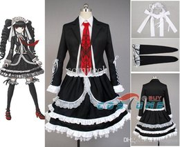 Wholesale Celestia Ludenberg Cosplay - Wholesale-Dangan Ronpa Danganronpa Celestia Ludenberg Cosplay Costume Dress Skirt