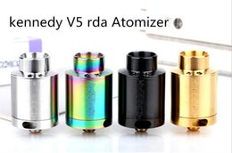 2019 clon de atomizador v5 El más nuevo SXK Kennedy v5 Clone 24mm RDA Reconstruye el atomizador del goteo con el pin del alimentador inferior para el cigarrillo electrónico contra kennedy 25 4 colores clon de atomizador v5 baratos