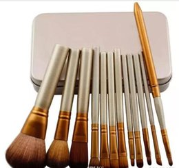 Wholesale Professional Make Up Boxes - Hot NK 3 Professional 12 PCS Makeup brush Cosmetic Facial Make-up Brush Tools Makeup Brushes Set Kit With Retail Box