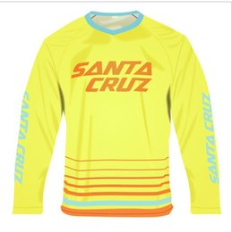 Wholesale Off Road Mx - Wholesale-6 Colors Santa Cruz Off-road Downhill Jersey Ropa Ciclismo Breathable MTB DH MX Downhill Jerseys Quick-dry Motocress Clothing