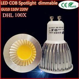 Wholesale Led 6w China - China Wholesales Super Bright GU10 Bulbs Light Dimmable Led Warm White 85-265V 9W 12W 15W LED GU10 COB LED lamp light led Spotlight DHL Free
