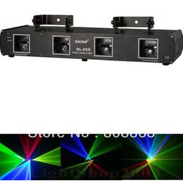 Wholesale Dmx Laser Purple - HoT 4Lens DMX RGBP Red Green Blue purple dmx Laser Scanner Professiona Stage light Party Disco ktv dance club light show x6