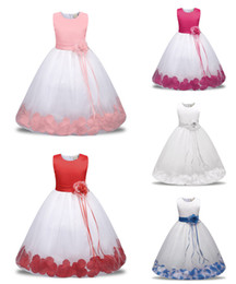 Wholesale Wholesale Special Occasion Dresses - 2018 Baby Childrens Ball Gown Wedding Dresses for Girls Clothing Toddler Big Kids Princess Kids Formal Wear Dress Special Occasion Dresses