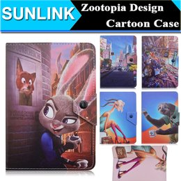 Wholesale Tab3 Cases - Universal Cute Cartoon Animal Zootopia Judy Hopps Nick Wilde Chief Bogo Star Wars PU Leather Case Cover for 7 inch Tablets PC w  Hook Stand