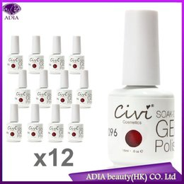 Wholesale Gel Resin Nails - Wholesale-(note color NO.) 12 pcs 2015 New Top Quality 15ml Polish Gel Soak off Nails Art UV 212 color 30 days lasting Lacquer resin