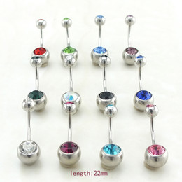 Wholesale Navel Crystal Ball - Hot Fashion Navel Bars Stainless Steel Crystal Ball Barbell Curved Belly Button Rings Body Piercing Jewelry