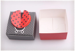 Wholesale Recycle Papers - 2016 wedding Ladybug shape candy box,Wedding Boxes Gift box folding Candy box DIY chocolate boxes favor holders