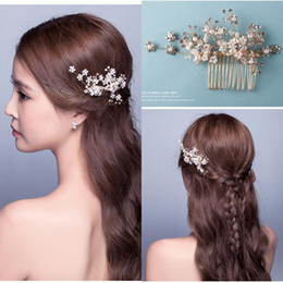 Wholesale Silver Bridal Hair Accessories - New Arrival Bridal Accessories In Stock Crystal Handmade Rhinestones Beaded Wedding Hair Accessory Crystals Bridal Hair Decorations CPA511