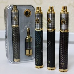 Wholesale E Cigarettes Box Packages - New arrival vision spinner 3 carbon spinner 3 e-cigarette kits 1600 mah vision spinner III with protank2 3 atomizer best gift box packaged