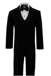 Ternos elegantes do menino on-line-Menino elegante ternos moda meninos flor vestido de menina ternos ocasião formal festa de casamento menino ternos (jaqueta + calça + gravata)