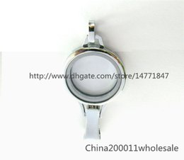 Wholesale Memories Lockets - Badge hold lanyard Floating Memory Glass locket 30*65mm Chrome color Plain Copy Stainless Steel JK38