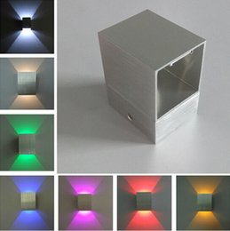 Wholesale Led Wall Lights Living Room - LED Wall Lamps Up and down Square Led Wall Light Decoration Living room Bedroom Ceiling Wall Lamps Indoor Lighting Backlight Corridor Light